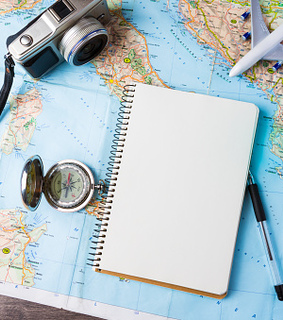 map, travelling and compass