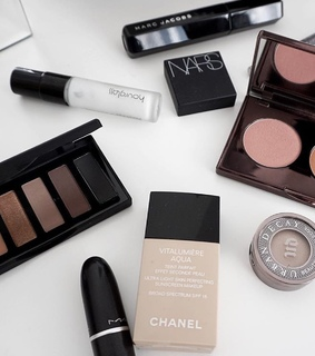 palette, lipstick and chanel