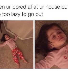 Lazy, bored and cute