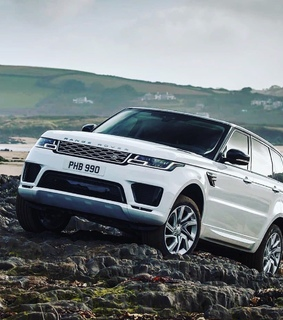 white, cars and rangerover