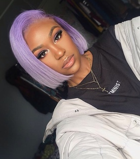 purple, french and hair