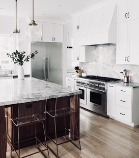 inside, marble and kitchen