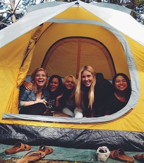 adventure, camping and friends