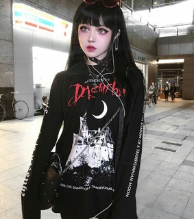 goth girl, ulzzang girl and goth