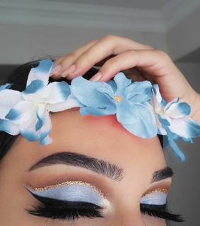 beautiful, beauty and blue makeup