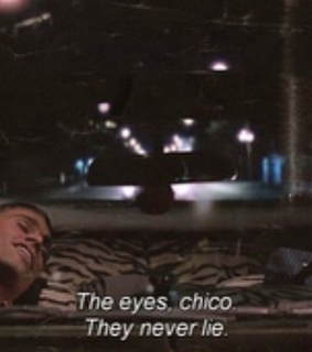 the eyes, cinema and scarface