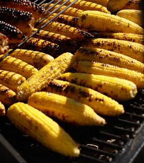 corn, food and grilling