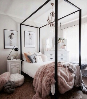 bed, bedroom and dream home