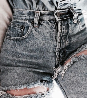 shorts, pale blue and jeans