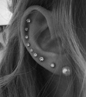 stud and ear piercing