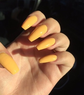 acrylic, pretty and yellow