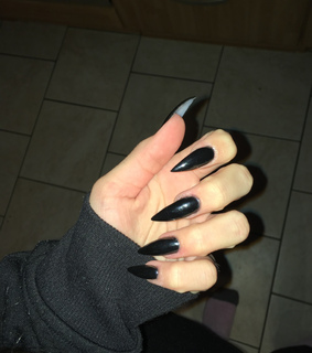 acrylic, acrylic nails and all black