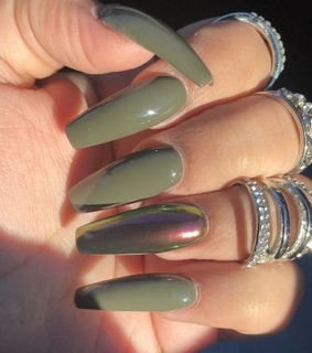 olive, rings and green