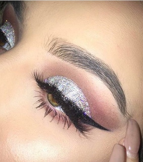 glitter, eyebrows and tutorial