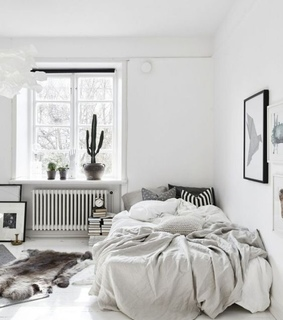 architecture, bedroom and black