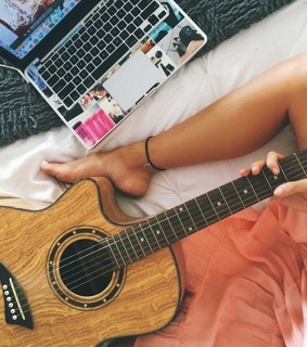 guitar, ? and behappy