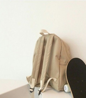 aesthetic, backpack and beige
