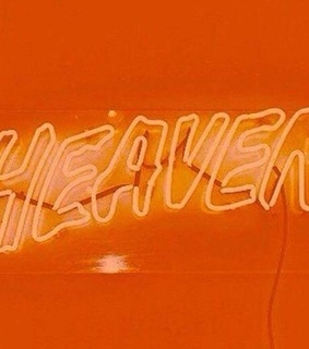 sign, orange aesthetic and heaven
