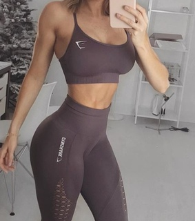 blonde, workout and exercise