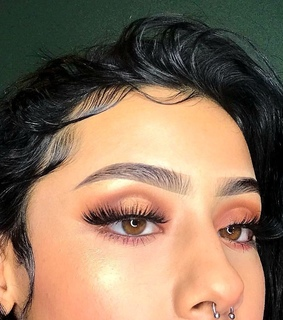 baby hairs, makeup and pretty