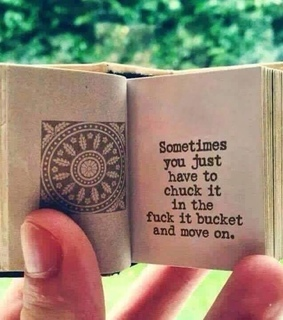 move on, sometimes and tiny book !