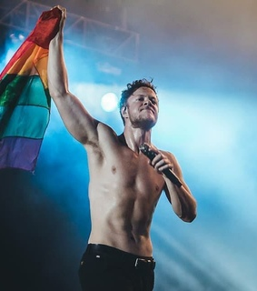 lgbt flag, lights and abs