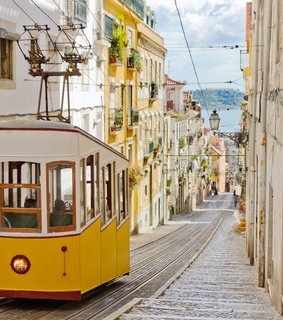 yellow, portugal and lisbon