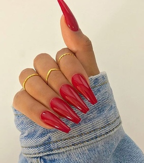 girl, red and nails
