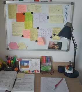 aesthetic, asian and desk