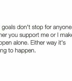 believe, goal and love yourself