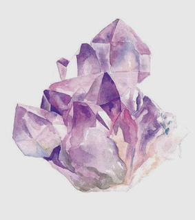 amethyst, art and drawing