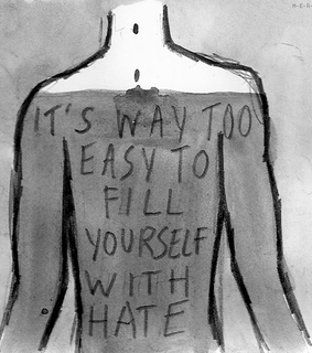 fill, selfish and hate