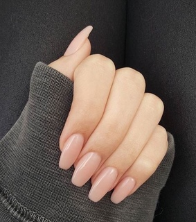 Nude, acrylic nails and aestheric