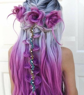 violeta, accesorios and hair