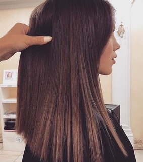 long hair, ombre and haircut
