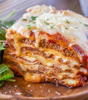 sweet, delicious and lasagna