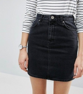 fashion, black skirt and casual