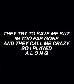 Save Me, dark and thoughts