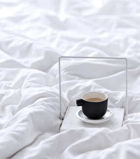 Lazy, bed and cappuccino