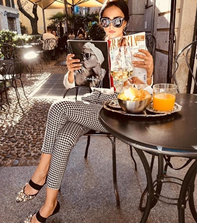 fashion, girl and cafeteria