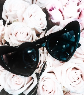 classy, flowers and sunglass