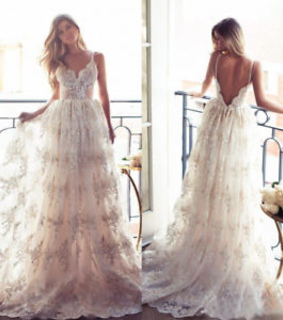 bridal dress and beach wedding dress