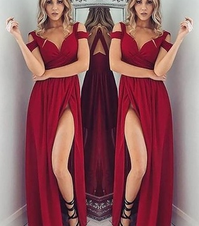 wine red prom dresses, Prom and burgundy bridesmaid