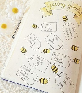 bee, bujo and bullet journal