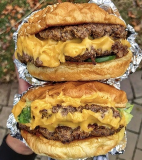 burgers, cheese and five guys