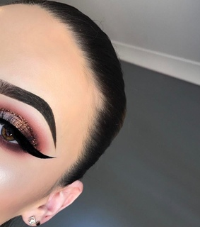 eyeshadow, rose gold and pretty