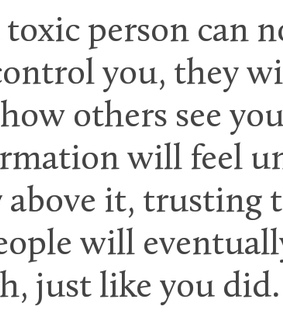 toxic people, rise above and control