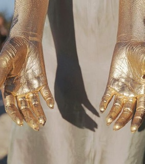 arms, hands and golden
