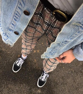 aesthetic, checkered and denim