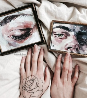 aesthetic gallery, paintings portrait and tumblr girl